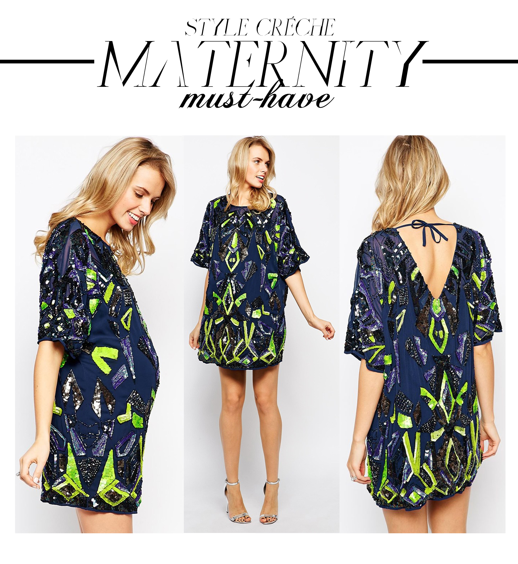 Maternity must have new years eve sparkle style creche maternity must have asos sequin aztec ombrellifo Choice Image